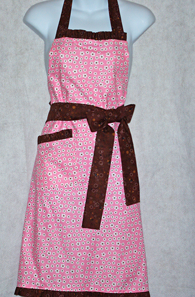 Chocolate and Pink  Apron